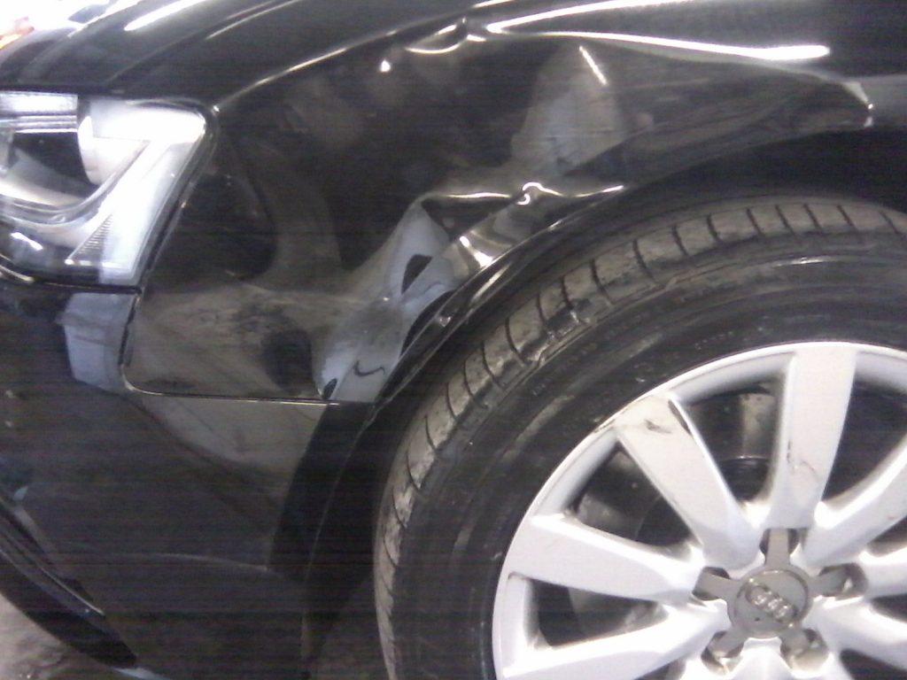 Audi A4 (Black) Damaged